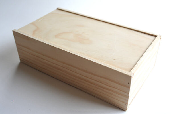 Double wine box from Wooden Box