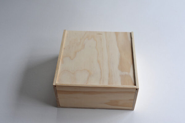 Hamper box with sliding lid from Wooden Box