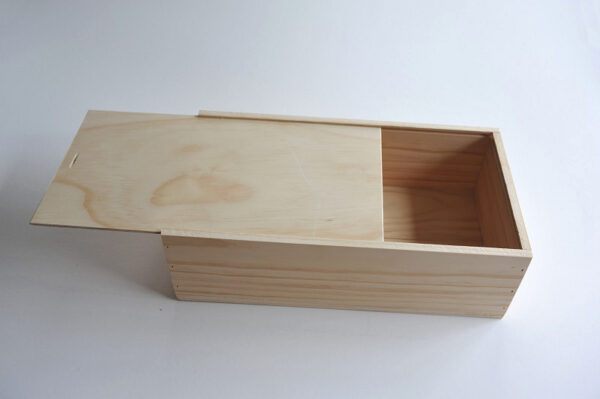 Single wine box by Wooden Box