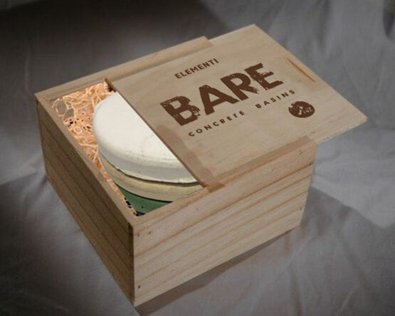 Bare Branded Lid made and branded by The Wooden Box Company